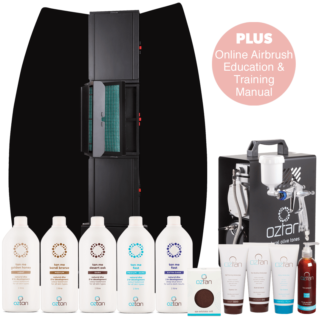 Oztan Airbrush Spray Tanning Professional Package | Oztan Natural Flawless Spray Tanning Solutions