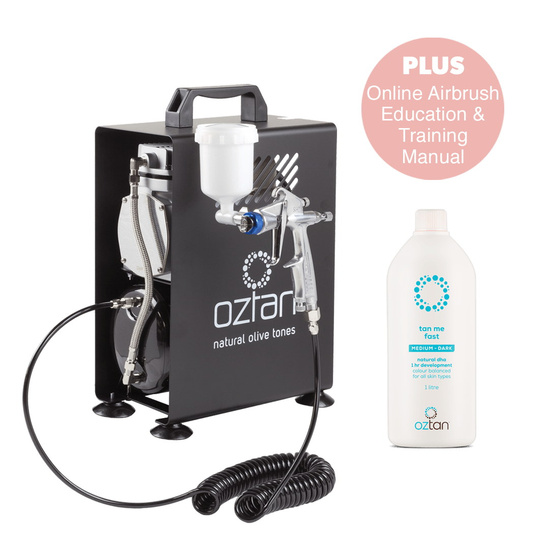 Oztan Airbrush Spray Tanning Starter Package | Oztan Natural Flawless Spray Tanning Solutions