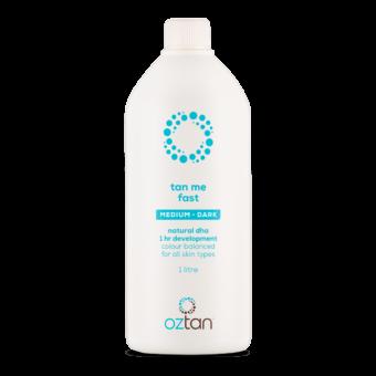 Oztan Tan Me Fast Medium Dark Professional Tanning Solution 1L | Oztan Natural Flawless Spray Tanning Solutions