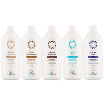 Oztan Professional Tanning Solutions 1L Group | Oztan Natural Flawless Spray Tanning Solutions
