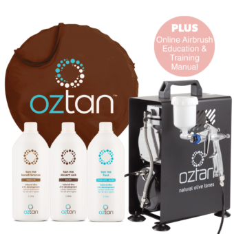 Oztan Airbrush Mini Spray Tanning Package | Oztan Natural Flawless Spray Tanning Solutions