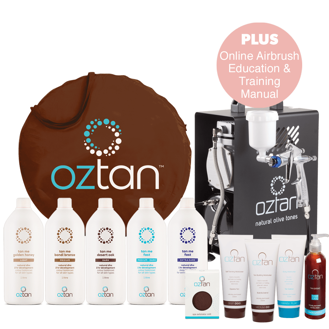 Oztan Airbrush Spray Tanning Premium Package | Oztan Natural Flawless Spray Tanning Solutions