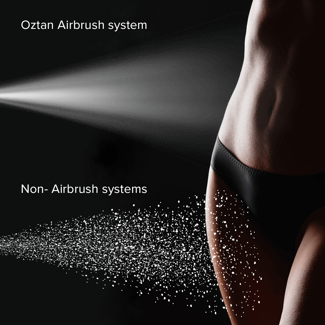 Oztan Airbrush Spray Comparison | Oztan Natural Flawless Spray Tanning Solutions