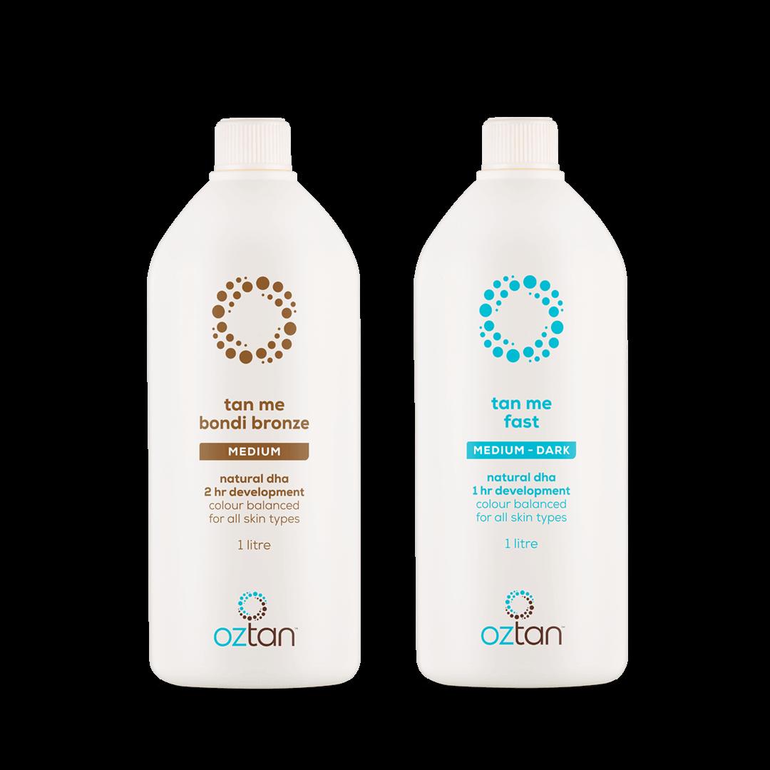 Oztan Bonus 2 Litres Spray Tan Solution | Oztan Natural Flawless Spray Tanning Solutions