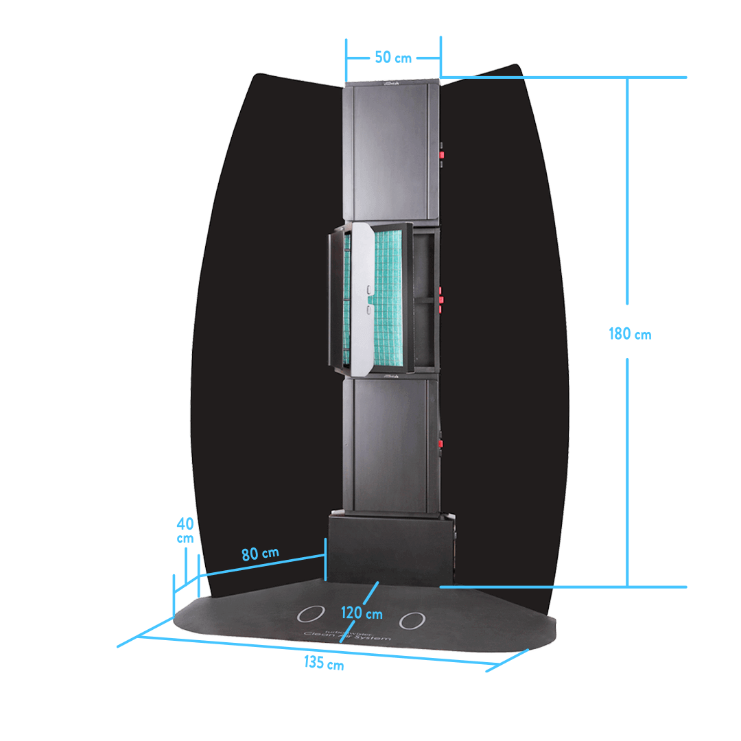 Oztan Tower Extraction Booth Dimensions | Oztan Natural Flawless Spray Tanning Solutions
